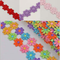 3 yds Daisy Venise Applique Lace Flower Venice Sewing Fabric Trims Craft 8 Color
