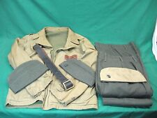 Named WWII USMC Field Jacket + Pants + Belt + Caps Sergent Mc Williams