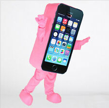 Advertising Costume Cell Phone Mascot Outfit Pink Parade Mobile Cosplay Dressing