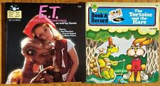 Lot of 2 Book & Record 45s: E.T. (Disney) & Tortoise And The Hare (Peter Pan)