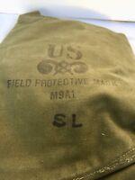 Vintage Military Gas Mask Pouch Vietnam/Korean Era US M9A1 (No Mask)