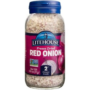 Litehouse Freeze Dried Red Onion, 0.60 Ounce (1-Pack, 2-Pack or 6-Pack Option)