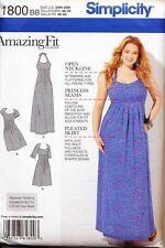 SIMPLICITY SEWING PATTERN 1800 WOMENS 20W-28W CUSTOM FIT DRESS, MAXI, PLUS SIZES