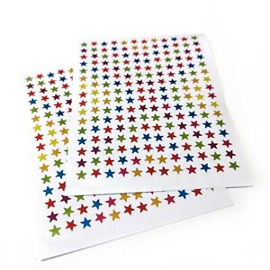 380 Star Stickers 6mm Assorted Colours -  Ideal for Reward Charts Scrapbook etc