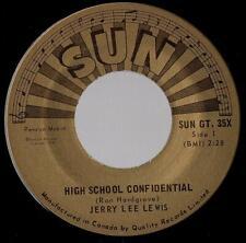 "JERRY LEE LEWIS   SINGLE   SUN GT.35X   "" HIGH SCHOOL CONFIDENTIAL ""   [Canada]"