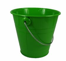 """1 Metal Pail Bucket with Handle Party Favor 5-1/2"""" Tall"""