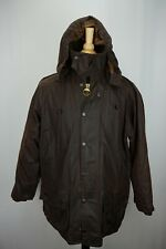 Barbour Beaufort Removeable Hood Green Waxed Cotton Jacket PERFECT Sz C40