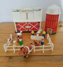 VTG Fisher Price Little People Play Family Farm /w Silo & 15 Accessory Pcs. 1967