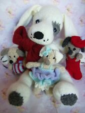 Spot the Dog & her Puppies -  Easy Soft Toy Knitting Pattern