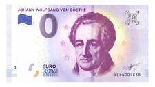 0 Euro Schein Johann Wolfgang von Goethe XEDN 2018-1 Souvenirschein Souvenir o €