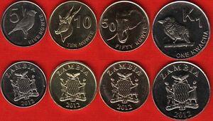 Zambia set of 4 coins: 5 ngwee - 1 kwacha 2012 UNC