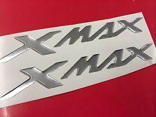 Coppia Adesivi Resinati Sticker 3D XMAX X MAX New Cromo