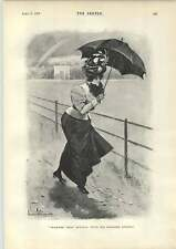 1898 de abril duchas paraguas Falda Larga De Viento