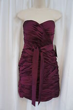 JS Collections Dress Sz 8 Red Burgundy Wine Evening Cocktail Party dress