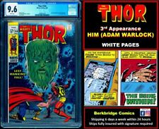 🔥 THOR 164 CGC 9.6 WHITE PAGES 👀 LOOK #165 & FANTASTIC FOUR 67 FANS: 3rd HIM
