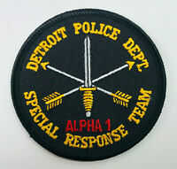 Detroit Police Special Response Team Alpha 1 SWAT Michigan Patch