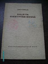 FINLAND 1926, MILITARY SIGNALLING MANUAL