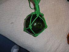"""Flotador De Cristal Verde Red De Pesca Aprox 5"""" diámetro en muy buen estado."""