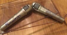 RARE CHICAGO BLACKHAWKS Announcer Pat Foley Eddie Olczyk Signed Auto microphones