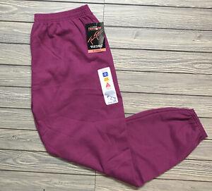 New Vintage Women's J.E. Morgan Fleecewise Classified Sweatpants Size XL Purple