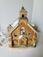 Lefton Colonial Village 1986 Christmas Lighted Church