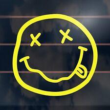 Nirvana Smiley Grunge Rock Music Stoner Car Sticker 100mm