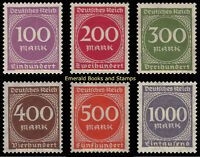 EBS Germany 1923 Inflation Number in Circle set (I) Michel 268-273 MNH**