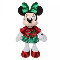 Disney Store 2019 Minnie Mouse Holiday Plush Christmas Doll Medium New with Tags