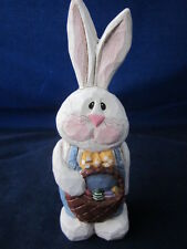 Eddie Walker Easter Bunny Rabbit Holding Basket with Eggs ~ As Is