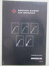 8/2005 PUB MBDA MISSILES SYSTEMS MISTRAL RAPIER MICA ASPIDE ASTER ORIGINAL AD