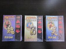 Portal Three Kingdoms Decks Chinese - All 3 - Wu / Shu / Wei Factory Sealed