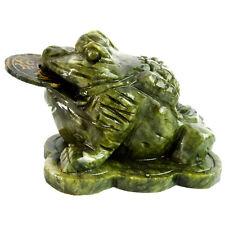 Feng Shui Jade Money Toad Frog Statue AA437