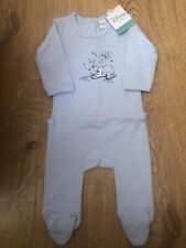 Disney Winnie The Pooh Babygrow Sleepsuit Light Blue Brand New 3 6 9 12 18 24 36