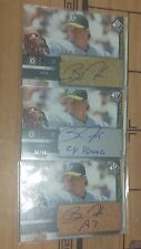(3) Barry Zito 2003 UD SP Chirogrphy Autograph Auto Gold Silver Bronze #01/10