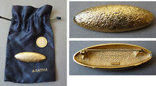 Broche AGATHA Paris en métal doré