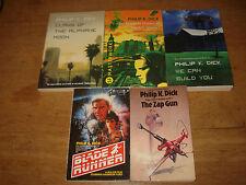 Philip K. Dick.x 5 paperbacks including the ZAP GUN AND BLADE RUNNER