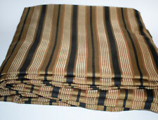 Pair JCPenney Light Filtering Rod Pocket Curtain Panels Black Gold Stripe 108""