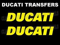 Ducati Tank Transfers Decals Stickers Motorcycle Sold as a Pair Yellow