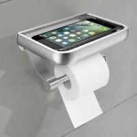 Porta carta igienica Accessorio bagno in acciaio inox supporto rotolo cellulare