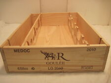 OLD WOOD-WOODEN MEDOC R GOULEE WINE CRATE BOX ELEPHANT