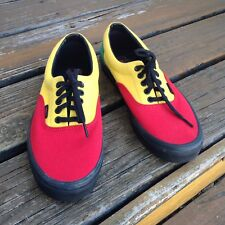 Vans Off The Wall Rasta Red Yellow Green Canvas Sneakers Men 9 Women 10.5 Shoes