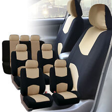 Seat Covers for 3Row 7 Seaters  SUV Van Universal Fitment Beige Black