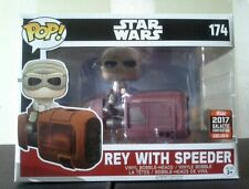 FUNKO REY WITH SPEEDER WALMART 2017 EXCLUSIVE LIMITED IN HAND READY TO SHIP!