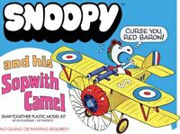 Atlantis Snoopy and his Sopwith Camel with Motor Snap Together model kit 6779