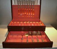 Vtg 1847 Rogers Bros SPRINGTIME 1957 Silver Plate Flatware 54 Pieces + Box