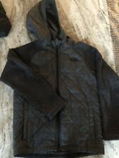 Boy's Youth The North Face Jacket Medium 10-12 Quilted  Gray Hooded