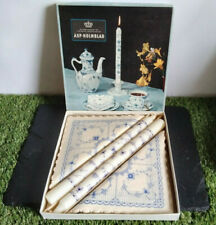 More details for 1950/60's retro asp holmblad boxed candles & napkins-made in denmark