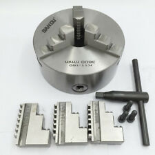 6 inch 3 Jaw Lathe Chuck Self-Centering Hardened Steel for CNC Drilling Machine