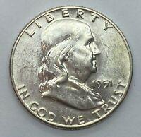 1951 (P) Franklin Half Dollar- Brilliant Uncirculated (BU) - 90% Silver *3a5