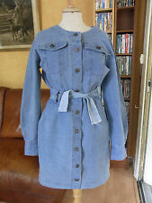 ROBE BLEUE T 38 INFINITIF JEANS BLUE DRESS size M